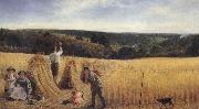 Richard Redgrave,RA The Valleys also stand Thick with Corn:Psalm LXV oil painting artist